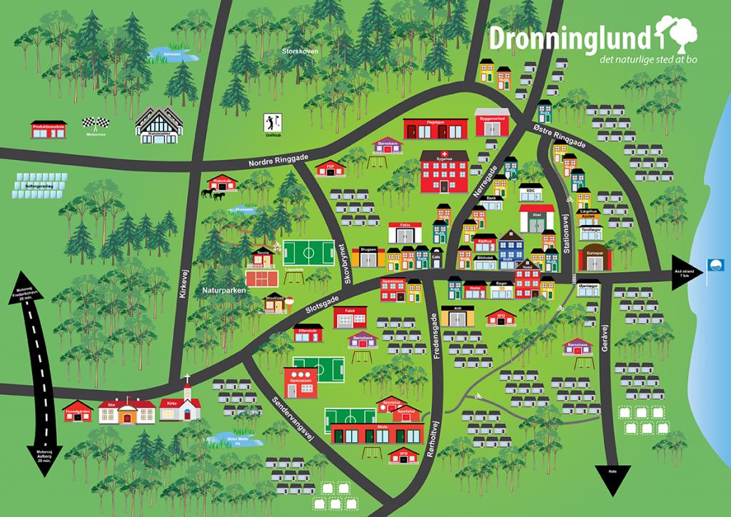 Kort-Dronninglund